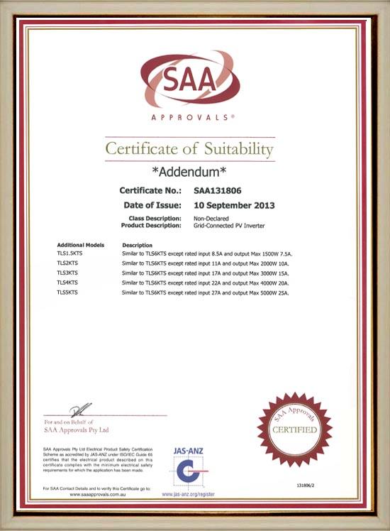 SAA新标准IEC62109